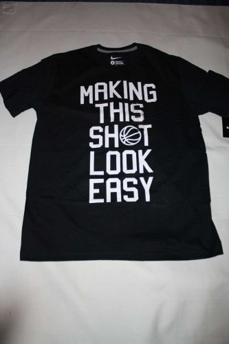 """New Men's Nike Graphic T-shirt """"MAKING THIS SHOT LOOK EASY"""" Size Large"""