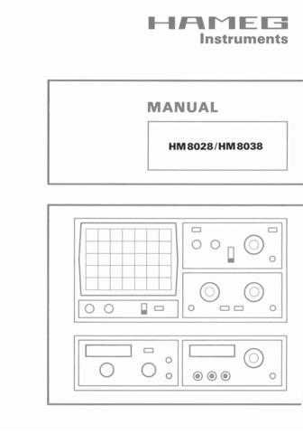 Hameg HM8028 8038 D E Operating Guide by download Mauritron #307246