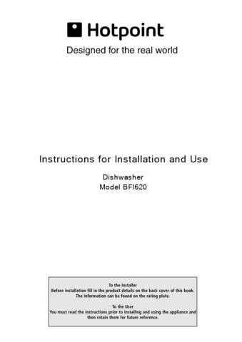 Hotpoint BF41 Dishwasher Operating Guide by download Mauritron #313491