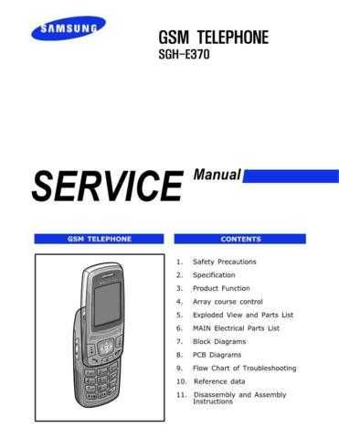 Samsung SGH-E370 Mobile Phone Service Manual by download Mauritron #306328