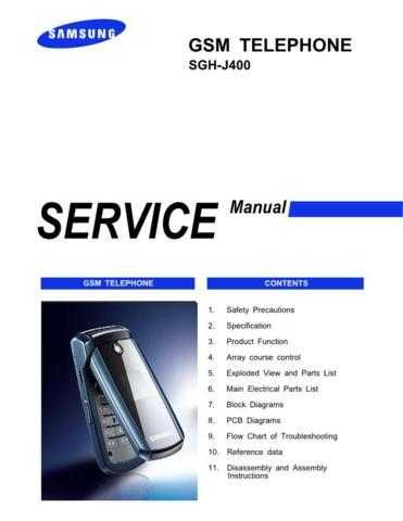 Samsung SGH-J400 Mobile Phone Service Manual by download Mauritron #306379