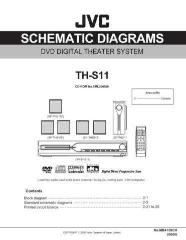 JVC TH-S11 sch Service Manual by download Mauritron #283948