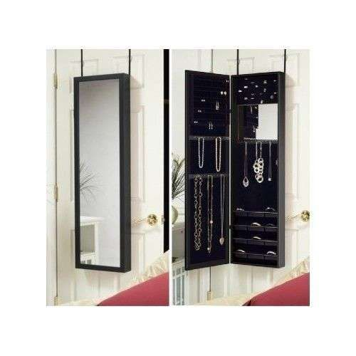 Over-the-Door Jewelry Armoire Frame Room Organizer Storage Full Hang ...