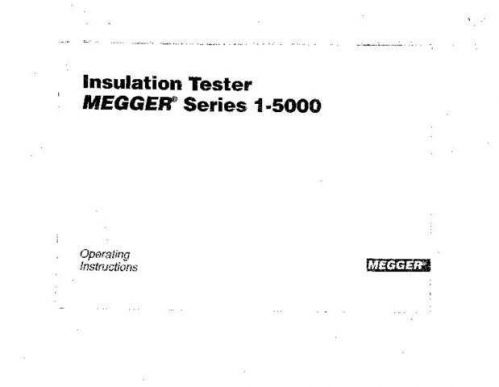 Biddle 13980 Operating Guide by download Mauritron #309248