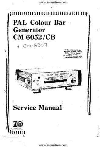 Labgear CM6052 Service Manual by download Mauritron #328618