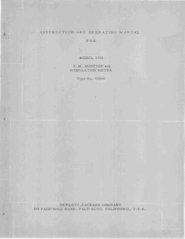 Hewlett Packard 335B Service Manual by download Mauritron #326608