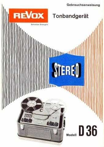 Revox D36 Operating Guide by download Mauritron #313054