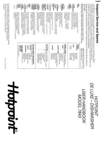 Hotpoint HB6410 Cooker Operating Guide by download Mauritron #307563