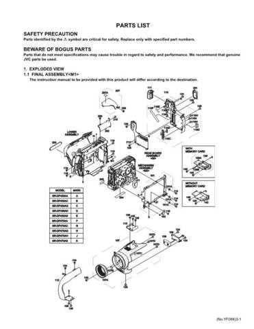 JVC GR-DF470AH_par Service Manual by download Mauritron #274159