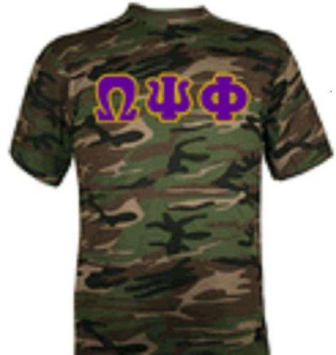 Omega Psi Phi Camouflage T-Shirt - Size Medium