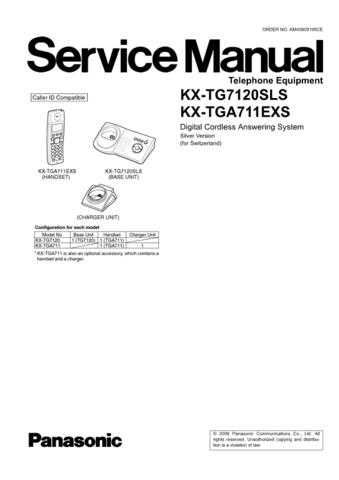 Panasonic TG7120SL Manual by download Mauritron #302298
