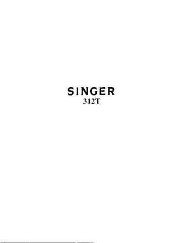 Singer 312T Sewing Machine Operating Guide by download Mauritron #321415