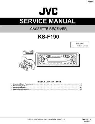 JVC KS-F190 Service Manual Circuits Schematics by download Mauritron #275345