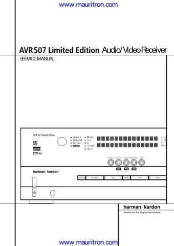 Harman AVR507 Manual by download Mauritron #307328