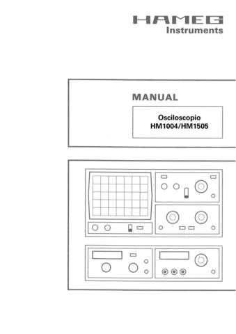 Hameg HM1004 HM1505 Operating Guide in Spanish by download Mauritron #307117