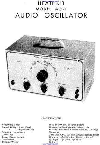 Heathkit AO1 (2) by download Mauritron #307334