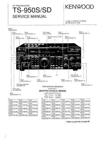 Kenwood TS950SD Service Manual by download Mauritron #330725