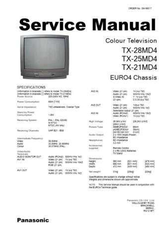 Panasonic TX-25MD3 Manual by download Mauritron #302496