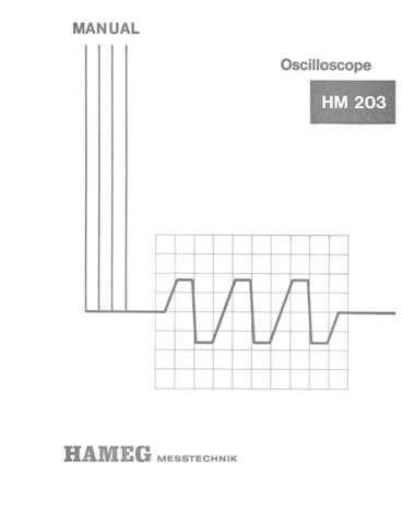Hameg HM203 Operating Guide by download Mauritron #307157