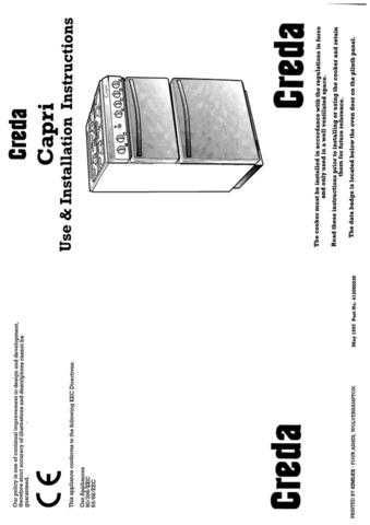 Creda HB41214 Operating Guide by download Mauritron #312866