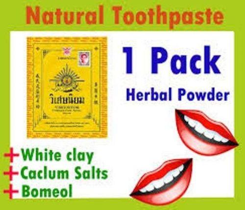 3 X VISET- NIYOM Toothpaste POWDER Thai Herb Natural For ORALGUM CARE Fresh