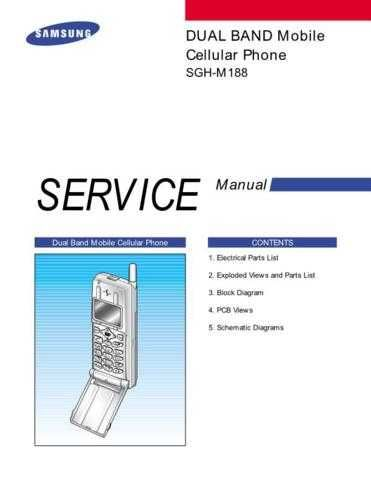 Samsung SGH-M188 Mobile Phone Service Manual by download Mauritron #306384