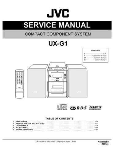 JVC UX-G1 Service Manual by download Mauritron #277046
