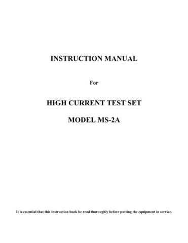 Biddle MS-2A Operating Guide by download #335914