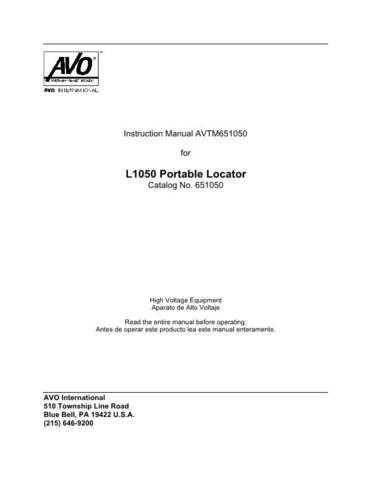 AVO 651050 Operating Guide by download Mauritron #308799
