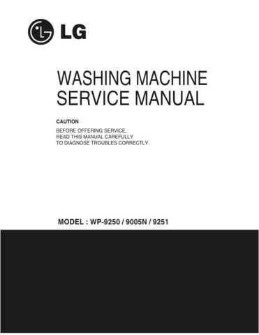 LG LG-WP-9250.service manual Manual by download Mauritron #305270