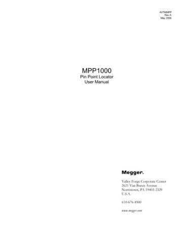 Biddle MPP-1000 Operating Guide by download Mauritron #309737