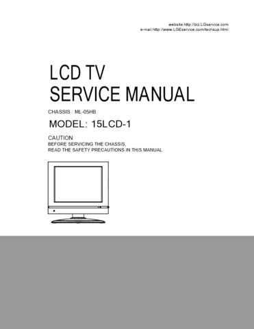 LG H15LCD-1MB Manual by download Mauritron #304724
