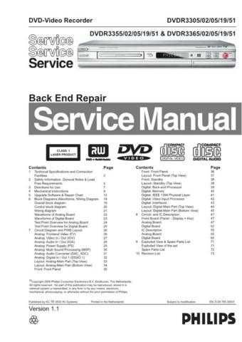 Philips 3365-51 Recorder Service Manual by download Mauritron #315681