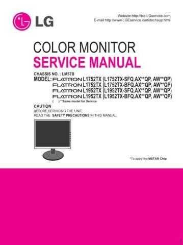 LG MFL30105543(L17_1952TX-S_BFQ_E(M)_3 Manual by download Mauritron #305533