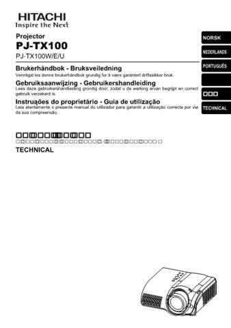 Hitachi PJ-LC9_DE Service Manual by download Mauritron #290705