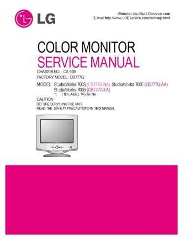 LG 3828TSL080A_(CB777G)_2 Manual by download Mauritron #304166