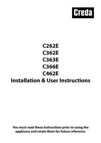 Creda C262E_C362E_C363E_C366E_C462E Operating Guide by download Mauritron #312823
