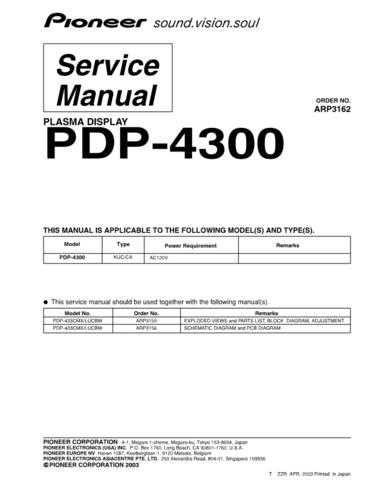 Panasonic PDP-4300-KUC-CA[1] Manual by download Mauritron #300925