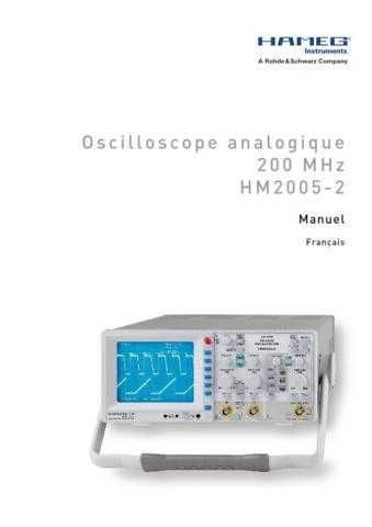 Hameg HM2005_ Operating Guide in French by download Mauritron #309842