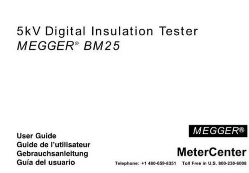 AVO BM121 Operating Guide by download Mauritron #308944