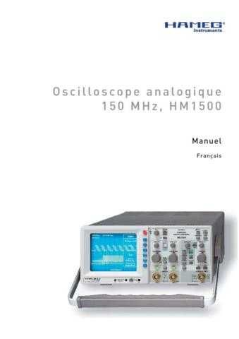 Hameg HM1008_2 Operating Guide in French by download Mauritron #309836