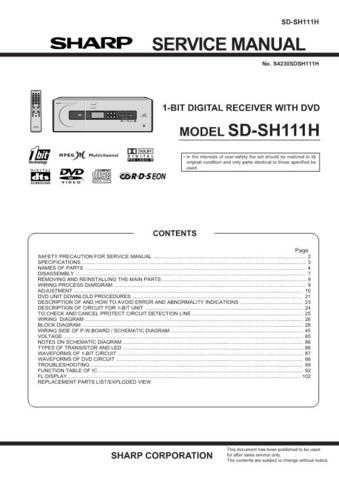 JVC SDSH111H SM GB Service Manual by download Mauritron #283365