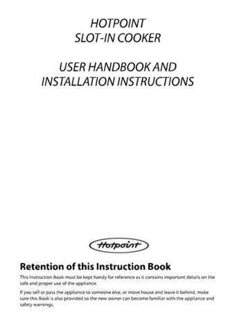 Hotpoint ew-73 ew83 19504365300 Cooking Operating Guide by download Mauritron #313590