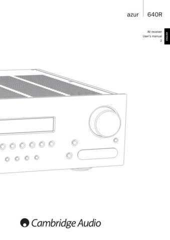 Cambridge Audio AP200603AAzur640RUsersManualENG by download Mauritron #311774