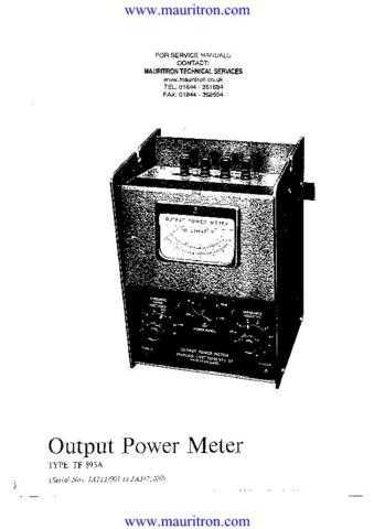 Marconi TF893A Manual by download Mauritron #309953