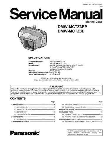 Sharp DMW-MCTZ3E Manual by download Mauritron #298368