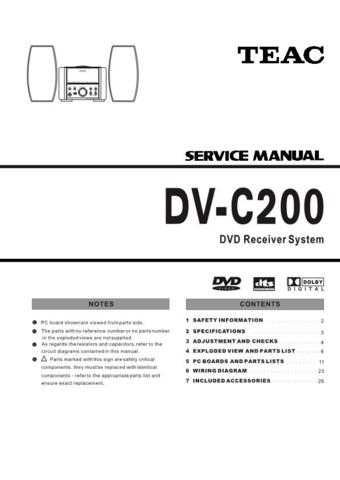 Teac DVH550 Service Manual by download Mauritron #319382