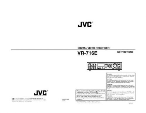 JVC hv008sch Service Manual by download Mauritron #281625