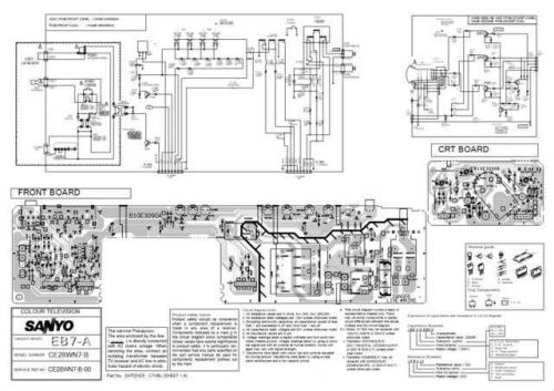 Sanyo. CE28WN7-B-00 SM Manual by download Mauritron #312624