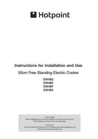 Hotpoint EW48G EW48K EW48P EW48X 19506051000 Operating Guide by download Mauritron #3